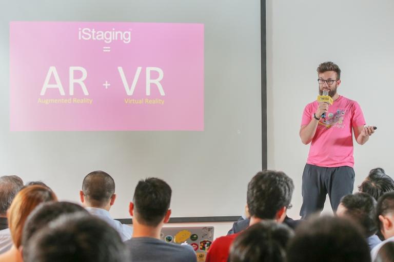 7. 虛擬看房應用的團隊iStaging 數位宅妝介紹產品。